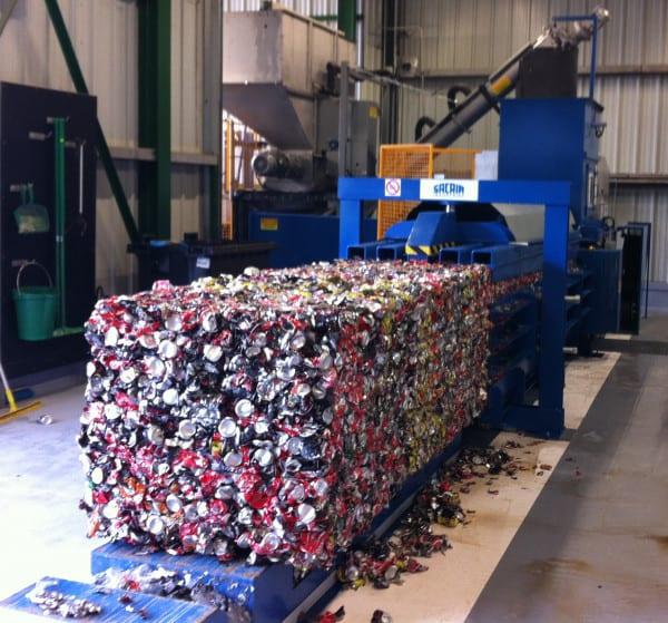 presse à balle aluminium