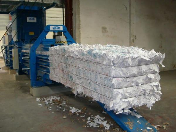 presse dechet papier
